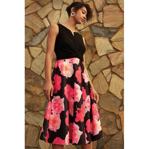 Ribkoff - Black/Pink dress