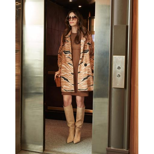 Joseph Ribkoff - Tan fur Coat